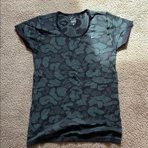 Nike dry fit leopard print